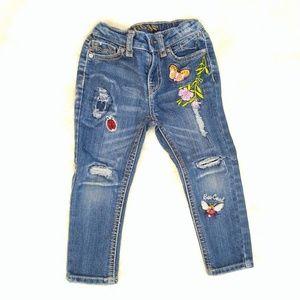 "VIGOSS ""Bee Cool"" destroyed skinny jeans"